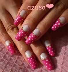 polka dots gel nail❤ by azusa - Nail Art Gallery nailartgallery.nailsmag.com by Nails Magazine www.nailsmag.com