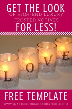 """I """"LOVE"""" it when I can replicate the look of a high-end item for a lot less. This project needs just a few supplies you probably already have around the house. I get compliments on these every year and no one can believe they're so easy to make! FREE DOWNLOADABLE TEMPLATE when you click through! Spread the Love!"""