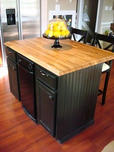 Builder grade kitchen island expansion with butcher block top and a beautiful kitchen island finally workwithnaturefo