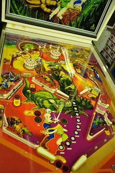 """Atari's """"Middle Earth"""" playfield. Pic by D'OtherPix, via Flickr. Atari only made a couple of pins by I really liked this one and """"Superman"""""""