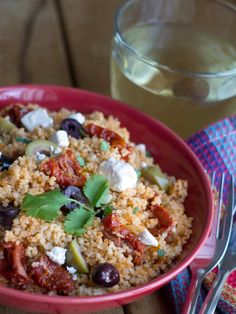 Greek Style Couscous Salad - Erren's Kitchen