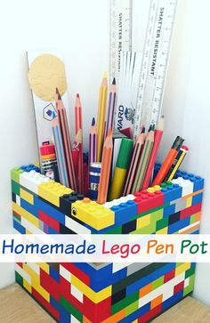 Homemade Lego Pen Pot