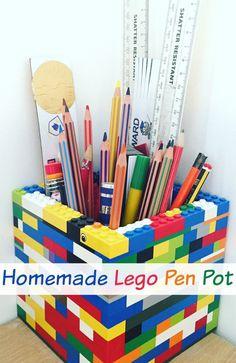 Homemade Lego Pen Pot