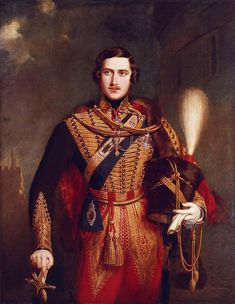 Prince Albert of Saxe-Coburg and Gotha, by John Partridge, Painted in the year of the wedding, this romantic portrait of Albert portrays him as the ultimate bridegroom-prince. No wonder Victoria was dazzled! Queen Victoria Family, Queen Victoria Prince Albert, Victoria And Albert, Reine Victoria, Grand Cross, Queen Of England, Herzog, British Monarchy, Portraits From Photos