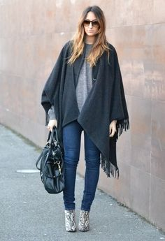 CHRISTMAS OUTFIT  , Rinascimento in Capes, Cheap Monday in Jeans, Stradivarius in Ankle Boots / Booties, Miu Miu in Bags, Vintage in Glasses / Sunglasses