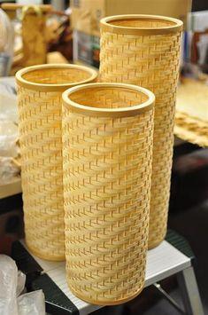 大村恵美さんが所属する工房で製作した竹かご