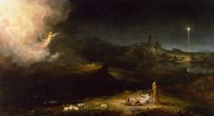 Art — thomas-cole-The Angel appearing to the Sheperds,...