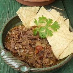 Slow Cooker Machaca Slow Cooker Recipes, Crockpot Recipes, Cooking Recipes, Yummy Recipes, Dinner Recipes, Greek Recipes, Mexican Food Recipes, Ethnic Recipes, Machaca Beef