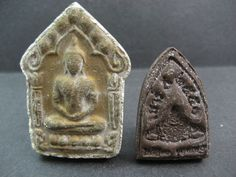 Currently at the #Catawiki auctions: Two Buddha amulets - Thailand - second half 20th century