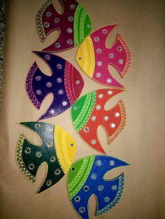 I've made thessupern arte. Diy Home Crafts, Clay Crafts, Diy And Crafts, Arts And Crafts, Paper Crafts, Madhubani Art, Madhubani Painting, Art N Craft, Craft Work