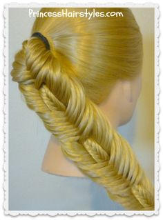 Double fishtail stitched braid hairstyle