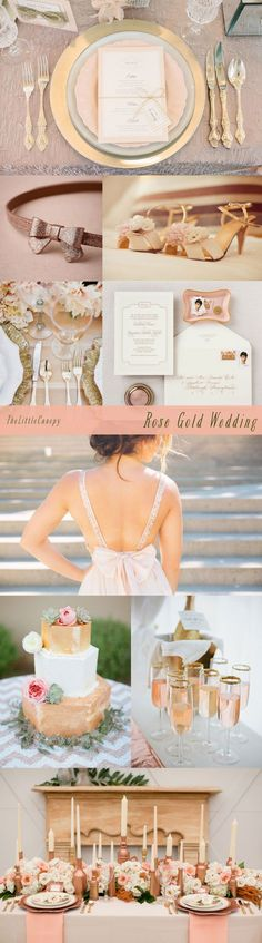 Rose Gold Theme Wedding Inspiration Board