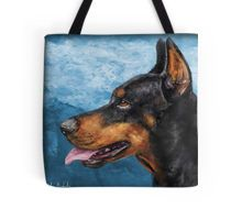Gorgeous #Doberman #ToteBag, my painting looks great on other products too!  #dog #Pinscher #bag #art #dogart