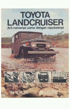 Vintage adv Toyota land cruiser indonesia