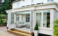 Garden Room Extensions, House Extensions, Kitchen Extensions, Orangerie Extension, Orangery Extension Kitchen, Kitchen Orangery, Orangery Conservatory, Conservatory Ideas, Four Seasons Room
