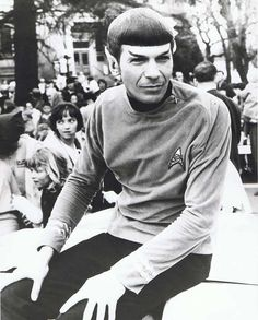 Leonard Nimoy making public appearance as Spock at the Pear Blossom Festival, Oregon, 1967