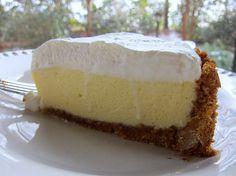Lemon velvet pie