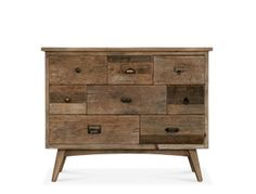 Swoon Editions Retro style chest of drawers in reclaimed elm - just &pound - £449