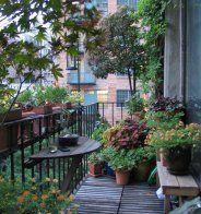 Une terrasse en longueur à l'abri des regards - Marie Claire Maison
