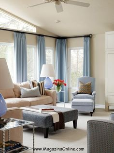 Glenwood Residence   Contemporary   Living Room   Little Rock   Tobi  Fairley Interior Design   Curtains/wall Color