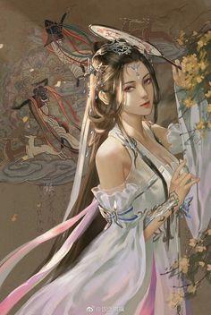 Ảnh đẹp - nữ cổ trang - Wattpad Fantasy Art Women, Fantasy Images, Fantasy Artwork, Fantasy Girl, Ancient Beauty, Painting Of Girl, Images Wallpaper, Wallpapers, China Art