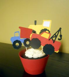 Construction/truck theme cupcake toppers & by pieceofcupcake, $15.00