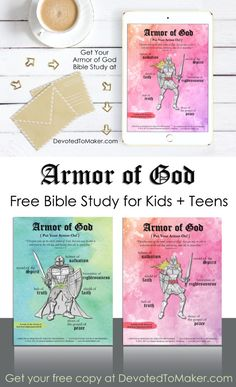 Armor of God Bible Study for Kids and Teens {FREE} - Devoted to Maker