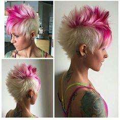 Villit Faux-Hawk-hiustenleikkaukset! Kyllä, jopa villit faux-hawk-tyylit ovat upeita! Kuumaa vai ei?