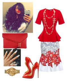 Sunday School Annual Day!!! by cogic-fashion on Polyvore featuring polyvore fashion style Prabal Gurung Isolda Henri Bendel Christian Louboutin Versus clothing