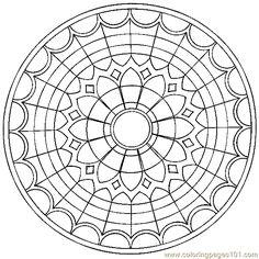 Mandala Coloring Page 001 (8)