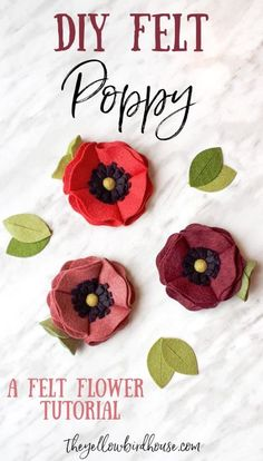 Make this pretty DIY felt poppy flower with this simple tutorial. Making felt flowers doesn't have to be hard! Use this diy felt flower to make hair clips or for home decor. Felt flowers are so versatile. Another felt flower DIY using the sizzix bigz bundle of flowers die.