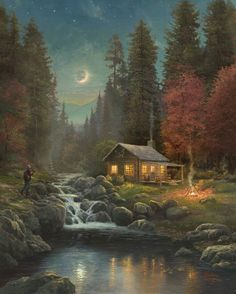Thomas Kinkade, I  like almost all of The Kincade pictures.  there so beautiful.