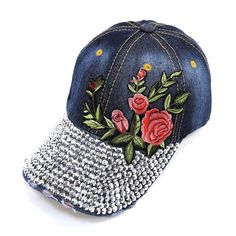 [HAT660 BLUE PATCH WITH ALL STONE]