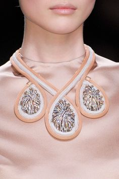 Lovely Necklaces at Christian Dior PFW