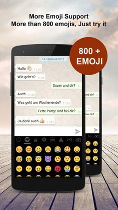 Download Emoji Keyboard and share your feeling with your friends through social groups and SMS.  https://play.google.com/store/apps/details?id=com.colortheme.emojikeyboard