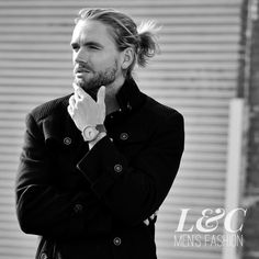 David touches his chin to look deep and mysterious. Added effect by the L&C Wilson Coat! Just $175 with free worldwide shipping. See more by clicking on the image !