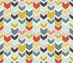BlueChevron fabric by mrshervi on Spoonflower - custom fabric