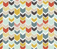 BlueChevron fabric by mrshervi on Spoonflower - custom fabric