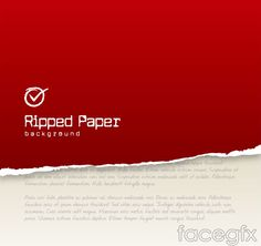 Creative red paper background vector