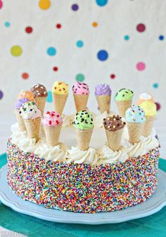 Ice cream sunday cake