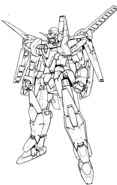 free coloring pages of gundam