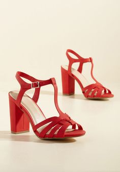 Expected Excellence T-Strap Heel