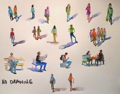 Nora MacPhail - Artist: pages of people