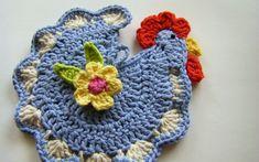 sew ritzy~titzy: Henrietta crocheted chicken (rooster) pot holder