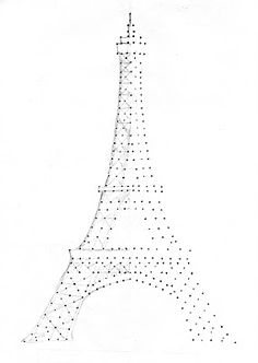 CraftyRichela: Eiffel Tower Embroidery Pattern// I would make it on tote bag for my lil' sister