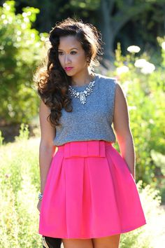 #ktrcollection.com        #Skirt                    #Double #Skater #Skirt #Pink                        Double Bow Skater Skirt in Pink                                               http://www.seapai.com/product.aspx?PID=84930