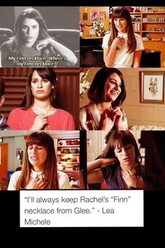 Lea Michele on the Finn necklace...❤