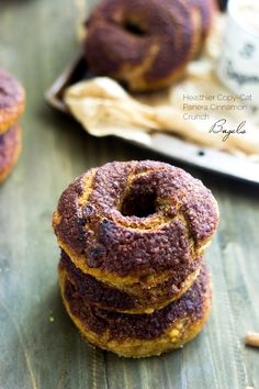 Panera Cinnamon Crunch Bagel Copy-Cat Recipe {Whole Wheat + Butter Free}