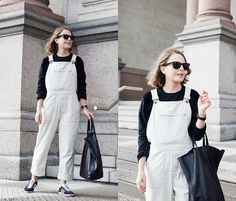Get this look: http://lb.nu/look/8018750  More looks by Trini Gonzalez: http://lb.nu/trinig  Items in this look:  Ray Ban Sunglasses, A.P.C. Sweatshirt, Daniel Wellington Watch, Margaret Howell Dungarees, Céline Bag, Adidas Sneakers   #casual #classic #minimal #dungarees #adidas #sneakers