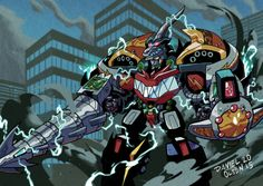 dragonzord with thunderzord - Google Search